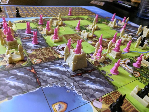 Playing Bunny Kingdom board game