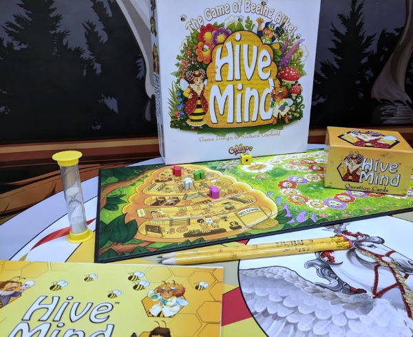 Hive Mind board game set up at Origins