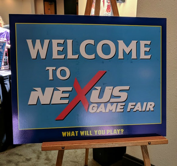 Welcome sign at Nexus Game Fair Milwaukee