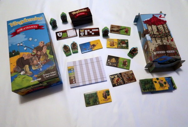 Kingdomino Age of Giants game components