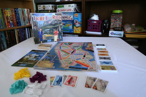 Ticket to Ride New York game on table