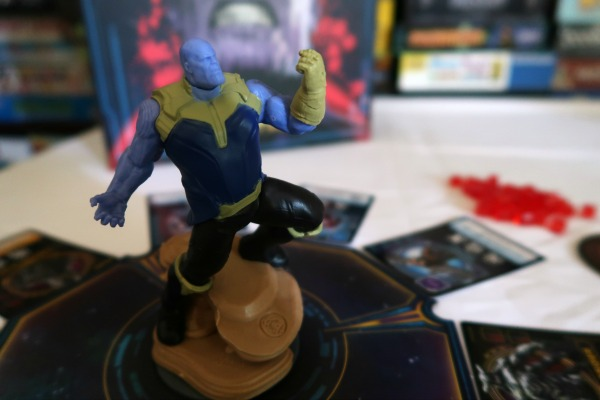 Thanos figure in Thanos Rising tabletop game