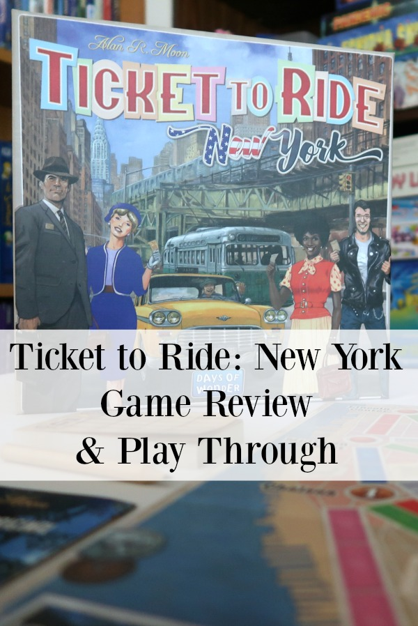 Looking for a fun family board game you can play in about 15 minutes? Learn why this mom and her family recommends Ticket to Ride New York in this review.