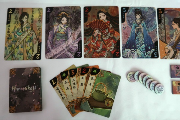 Geisha cards in the Hanamikoji card game