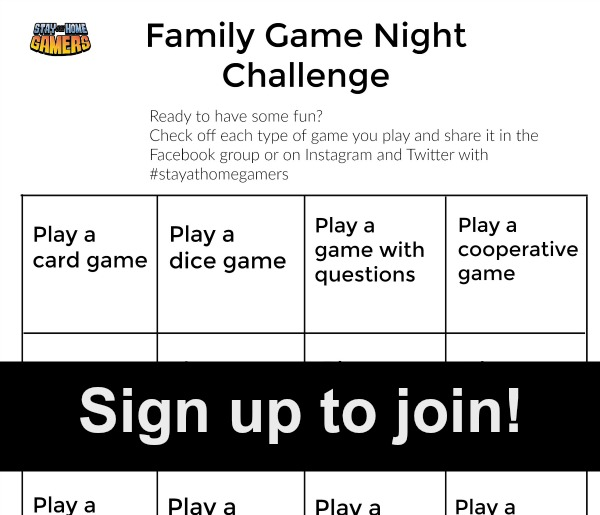 Sign up for the Family game night challenge