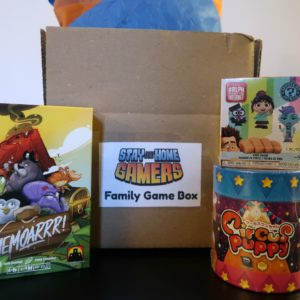 Family board game subscription box for preschool