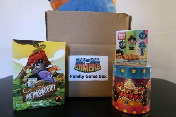 Family board game subscription box for preschool