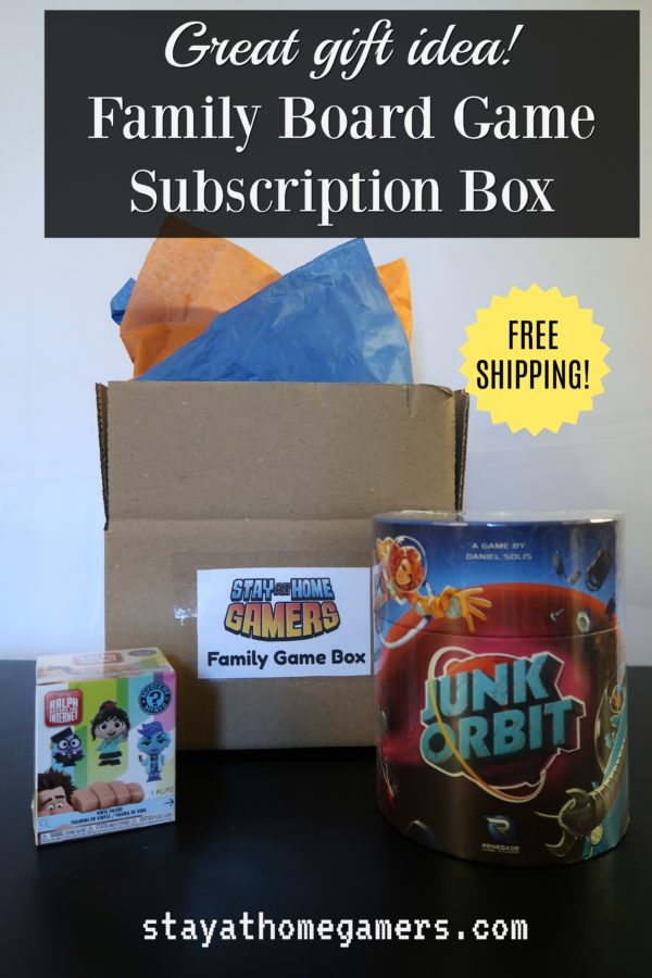 Family board game subscription box