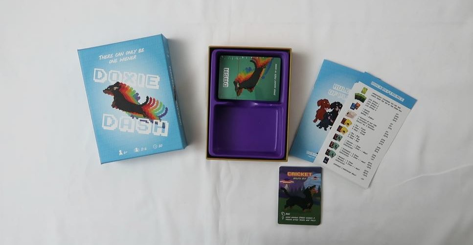 Doxie Dash card game box open